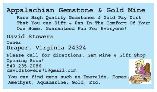 Gems Found In Our Pay - Appalachian Gem and Gold Mine